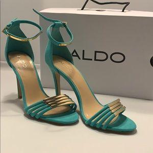 Aldo teal heels